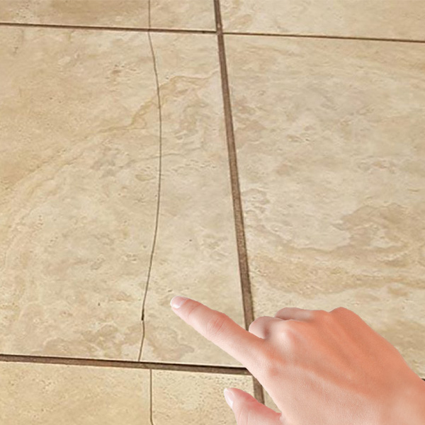 Image 1 of cracked tile