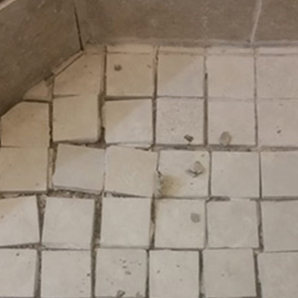 Image 2 of grout cracking in tile