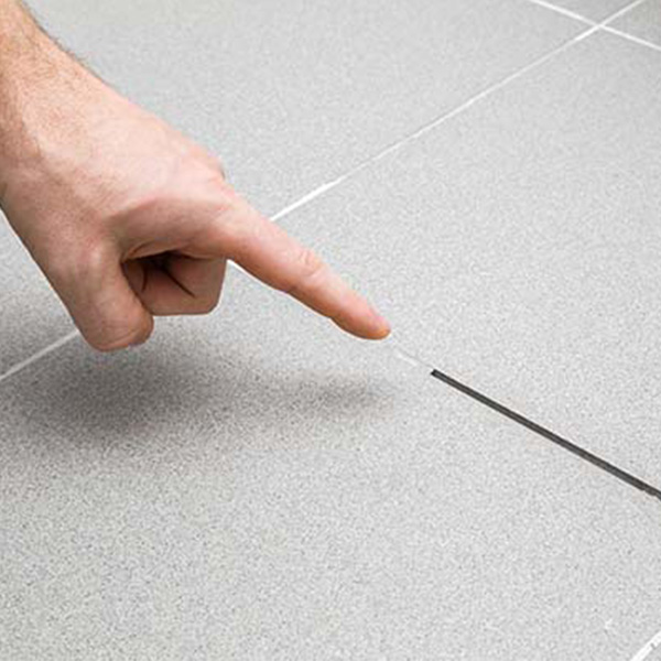 Image 1 of grout cracking in tile